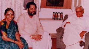 Brahm Dutt Dwivedi with Atal Bihari Vajpeyi
